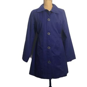 Eddie Bauer Purple Button-up Career Jacket Coat PS